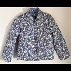 Gap Kids Puffer Jacket, Floral, Toddler 5, NWT